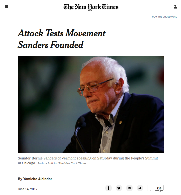 NYT: Attack Tests Movement Sanders Founded