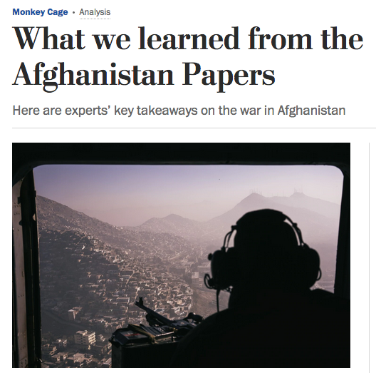 Washington Post: What We Learned From the Afghanistan Papers