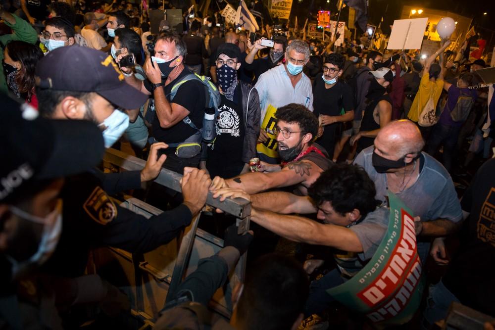 Anti-Netanyahu Protests Continue In Jerusalem