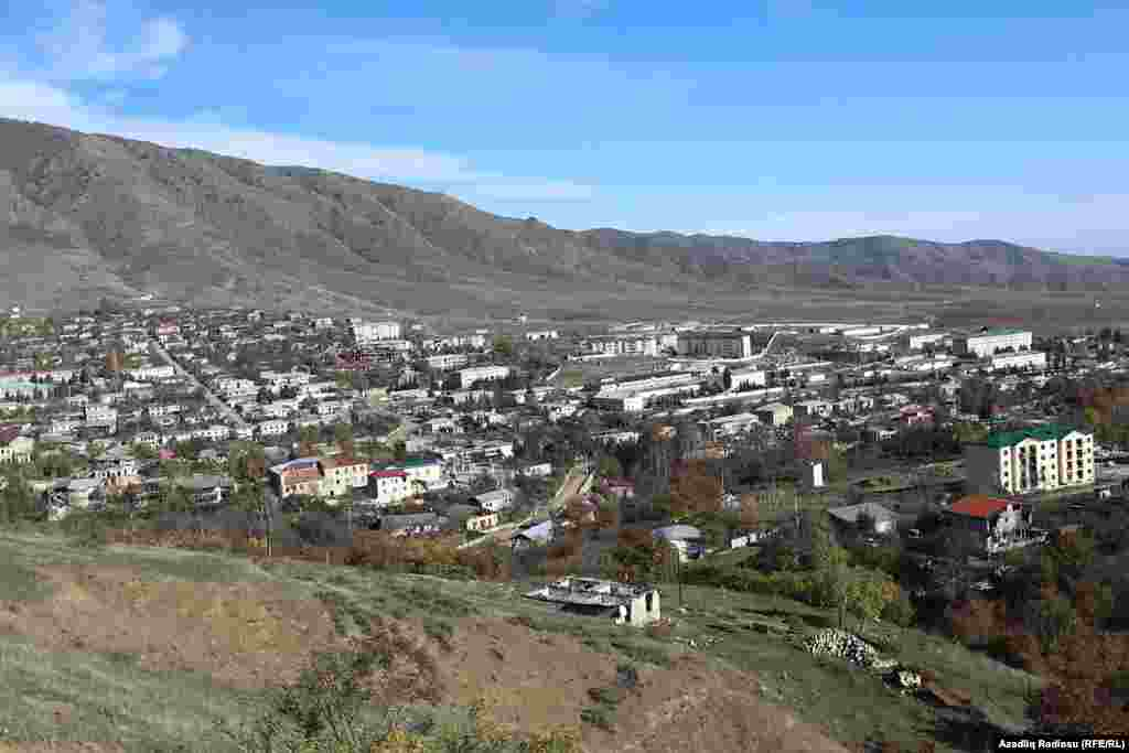 Hadrut is another town which recently came under the control of Azerbaijani troops, seen here on November 25.