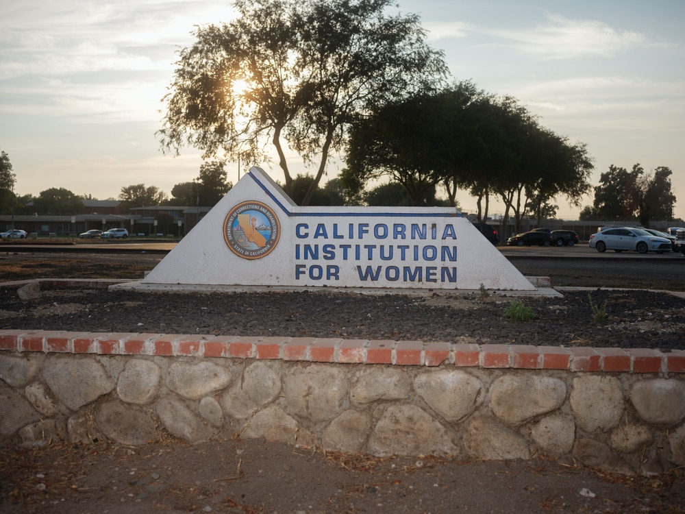 Outside California Institute for Women (CIW), October 8, 2020