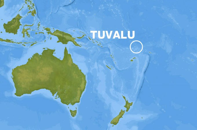 Al Jazeera map of Tuvalu