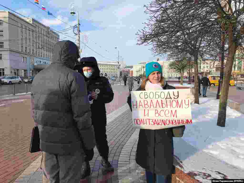 """Kaliningrad: """"Freedom for Navalny and all political prisoners"""""""