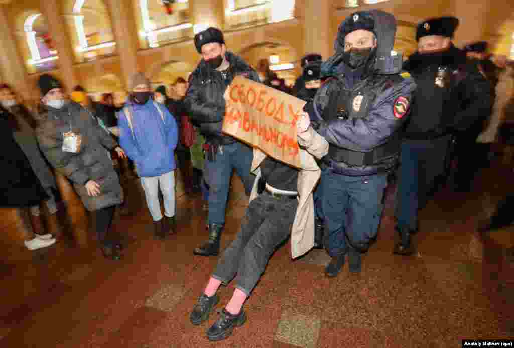 "St. Petersburg: ""Freedom for Navalny"""