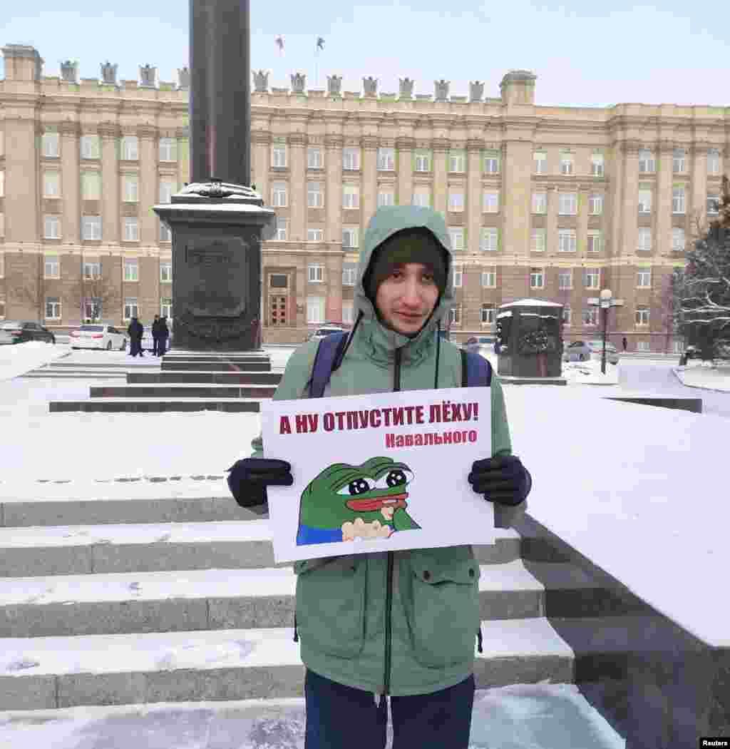 """Belgorod: """"Hey, release Aleksei Navalny!"""""""