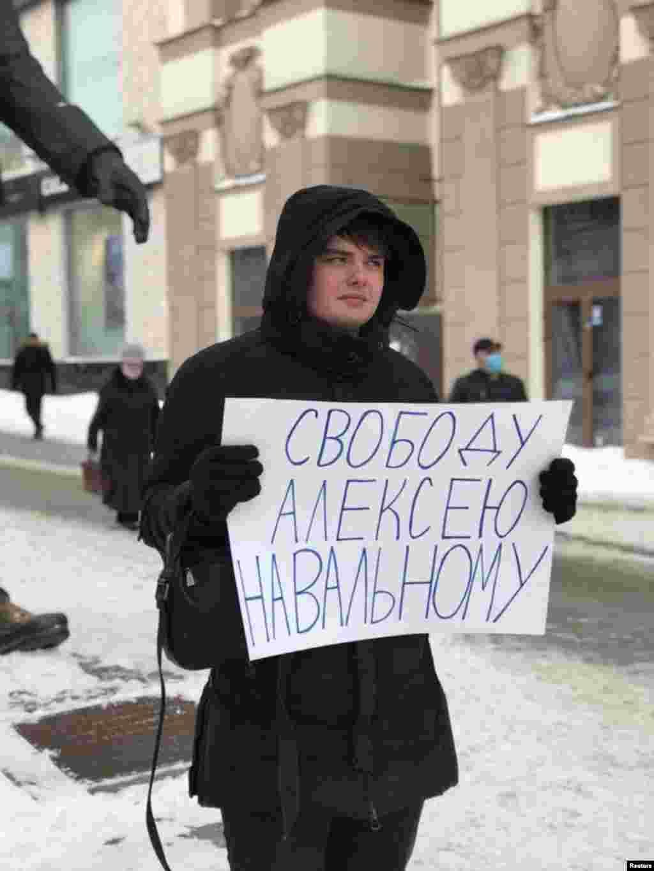 """Moscow: """"Freedom for Aleksei Navalny"""""""