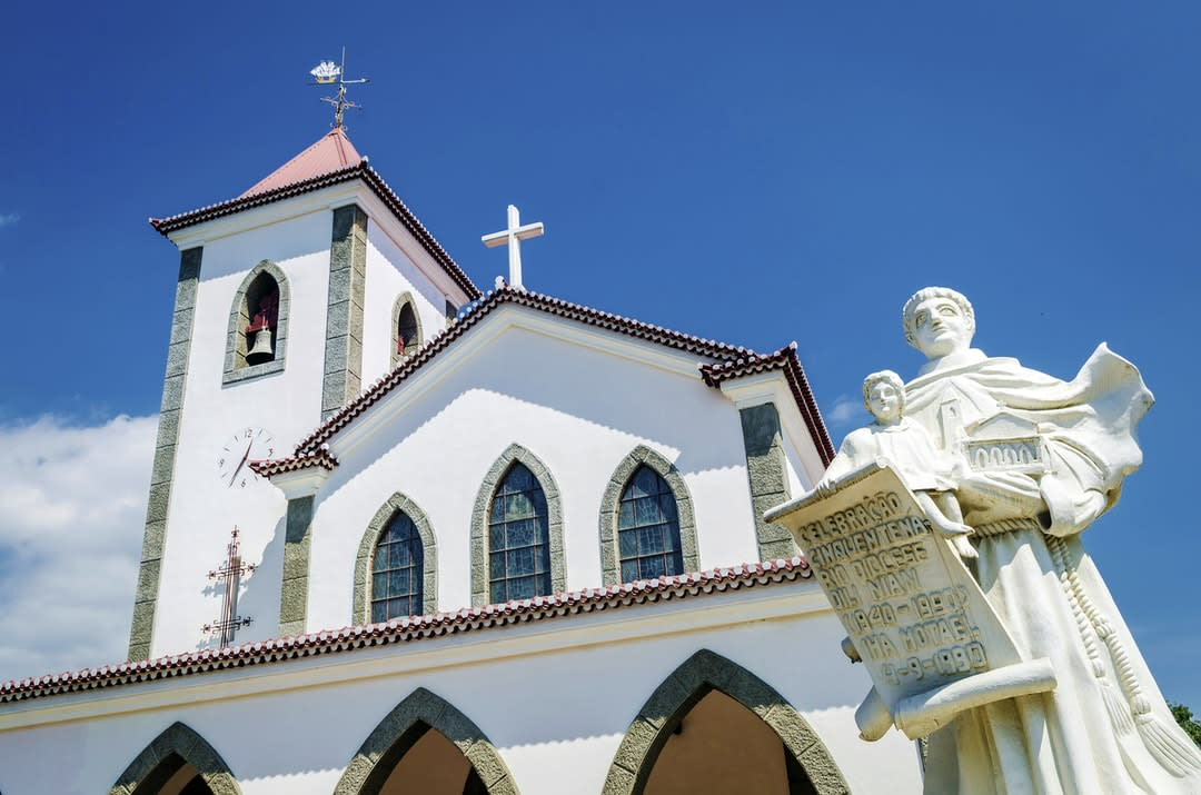 Portuguese Christian catholic church landmark in central Dili, Timor-Leste.