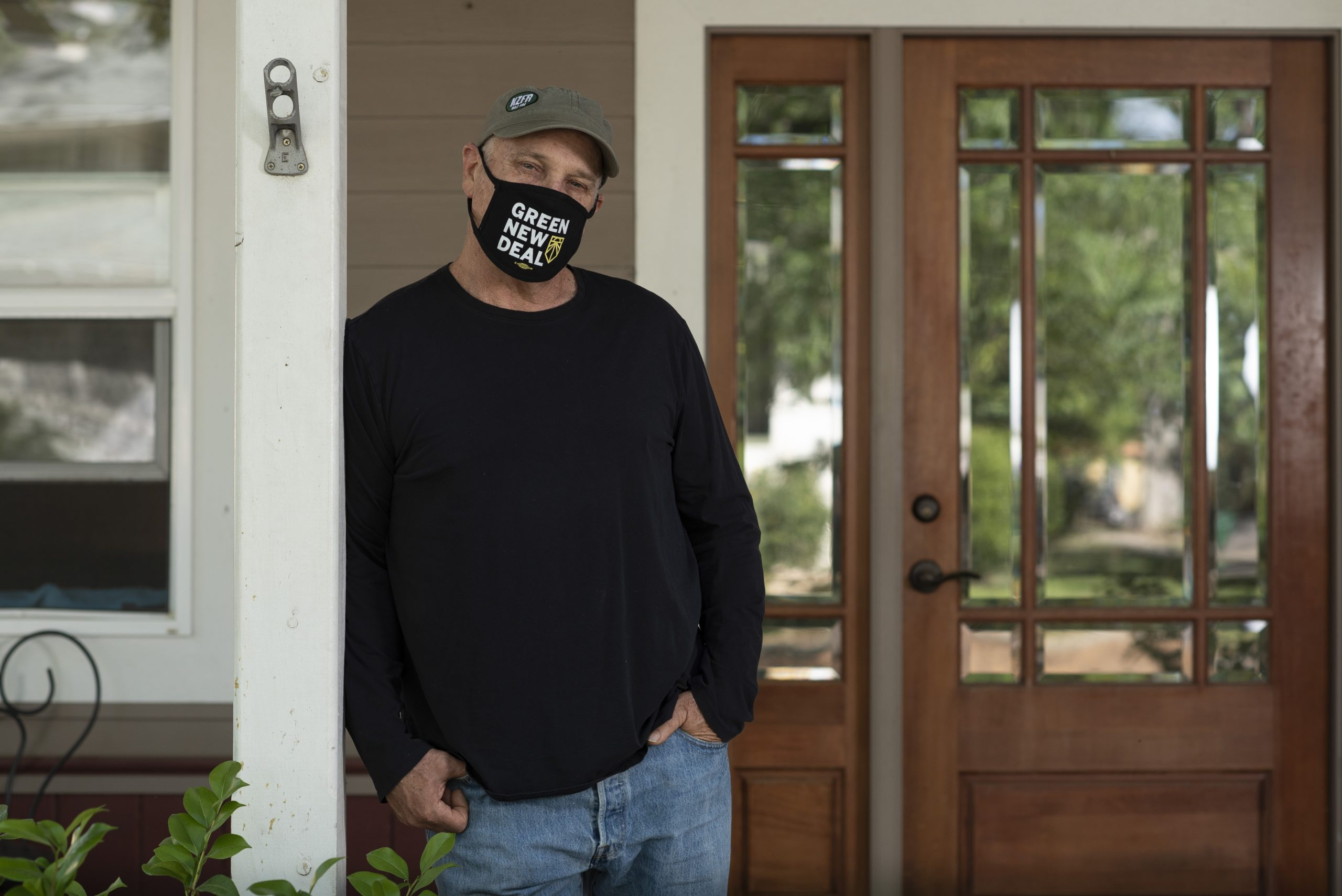 Mark Stemen, a professor of enviornmental studies at California State University, Chico, poses for a portrait outside his home in Chico, Calif. on Tuesday May 4, 2021. Salgu Wissmath for The Intercept