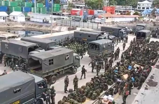 Indonesian troop build-up