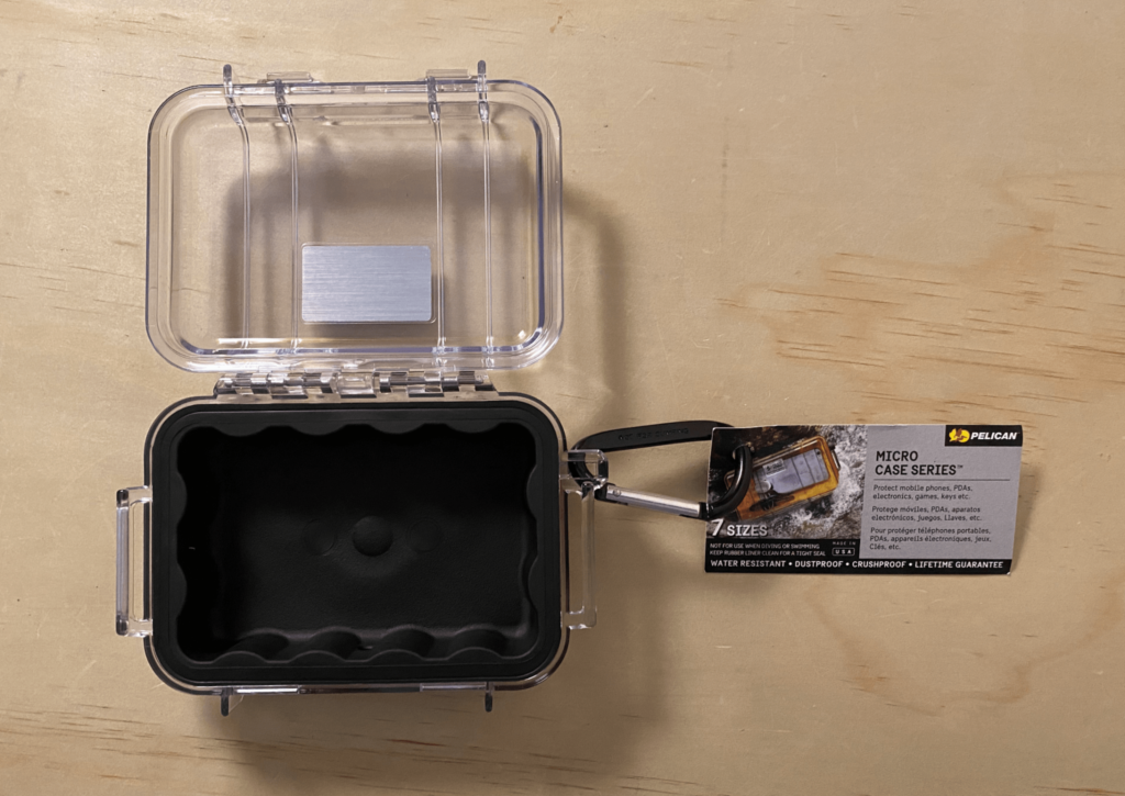 Pelican™ 1010 Micro Case™ (clear with black rubber insert)