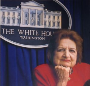Helen Thomas - Journalist for The White House press corps.